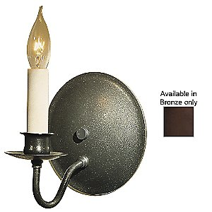 Single Light On Round Back Wall Sconce by Hubbardton Forge - OPEN BOX RETURN